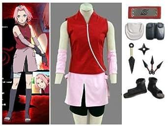 Naruno Sakura Haruno 2nd Cosplay Costume Set Size Small