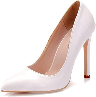 Crystal Queen White Pumps Shoes Women