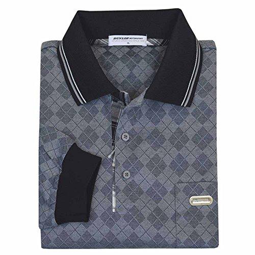DUNLOP(ダンロップ) メンズ 男性用ゴルフポロ 長袖 大きいサイズ ポロシャツ Tex-Tea 吸汗発散素材 出雲ブランド dp8