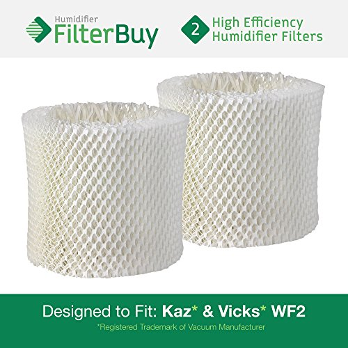2 - WF2 Kaz & Vicks Replacement Humidifier Wick Filters. Designed by FilterBuy in the USA. (Kaz Humidifier V3100 compare prices)