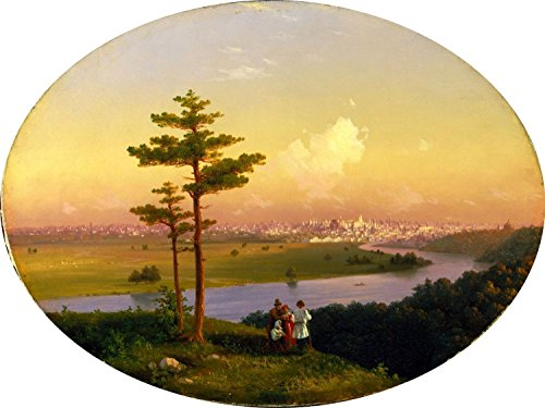 View of Moscow from Sparrow Hills by Ivan Aivazovsky Mural Kitchen Bathroom Wall Backsplash Behind Stove Range Sink Splashback One Tile 8