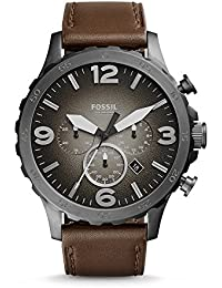 Men's JR1424 Nate Chronograph Leather Watch