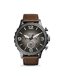 Fossil Men's Nate-JR1424 Brown Leather Watch