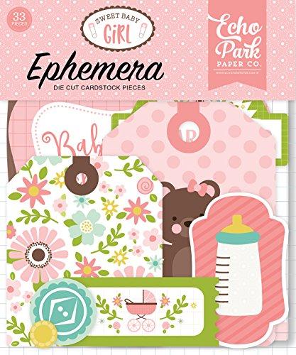 - Echo Park Paper Company Sweet Baby Girl Ephemera