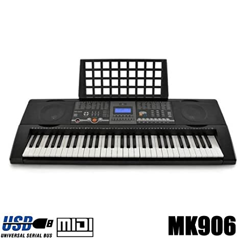 Teclado 61 teclas DynaSun MK906 LCD USB MIDI Respuesta Táctil, Keyboard E-Piano Electronico Digital Función Enseñanza Inteligente: Amazon.es: Instrumentos ...