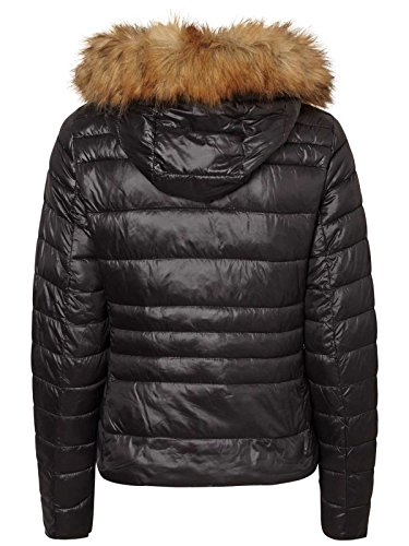 Moda fur jacket with Vero hood Padded Noir short by Sq1gxOSwP0