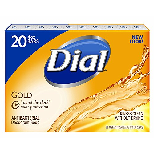 Dial Antibacterial Deodorant Gold Bar Soap, 4 Ounce  Net Wt