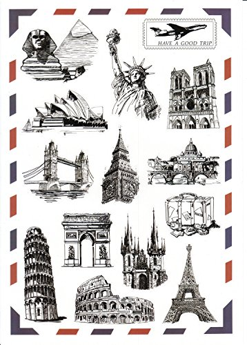 Landmark Stickers Monument Waterproof Childrens