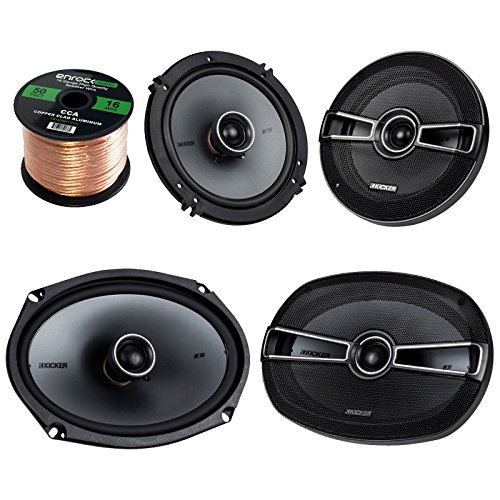 Car Speaker Set Bundle Combo With 2 Kicker 41KSC694 6x9