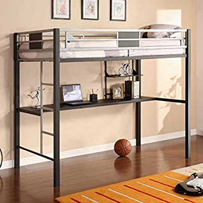 DHP Silver Screen Loft Bed