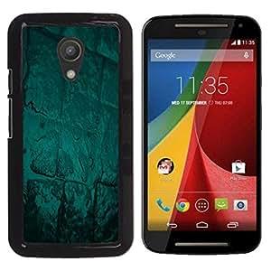 LECELL -- Funda protectora / Cubierta / Piel For Motorola MOTO G 2ND GEN II -- Abstract Green Glow --