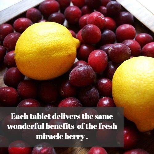 MiralandBerry Miracle Fruit Tablets, Miracle Berry Tablets, Double Strength Natural Sweetener, 30 Count, Turns Sour Foods to Sweet by MIRALAND BERRY (Image #4)