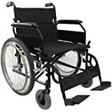 Karman Lightweight Extra Wide Wheelchair in 22 inch Seat with Flip Back Armrests