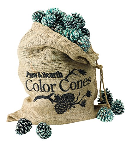 Plow & Hearth Flame Color Changing Pine Cones Fireplace Accessory