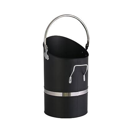 Kamino-Flam 122318 – Cubo Hierro de carbón con asa y asa abatible de carbón