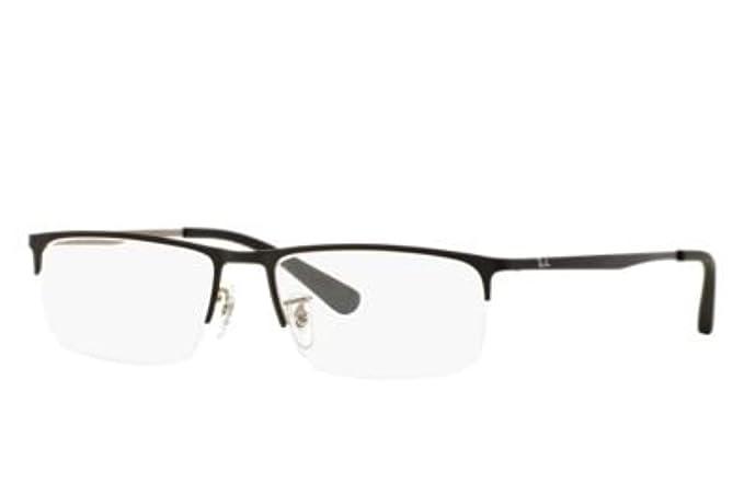 f66b13049f Amazon.com  Ray-Ban Men s RX6349D Eyeglasses Shiny Black 55mm  Clothing