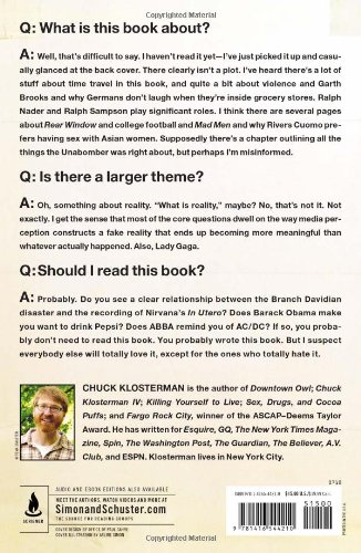 chuck klosterman coldplay essay Chuck klosterman's hilariously insightful sex, drugs, and cocoa puffs is a detailed pop-culture analysis the commentary makes fun of lowbrow american culture while also showing his vast knowledge of it.