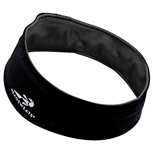 Headsweats Performance UltraTech Running/Outdoor Sports Headband, Black