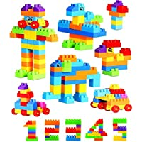TENDERFEET Pack of 100 Blocks Stem Educational Kids Toys Building Block Colourful Toys for 2 3 4 5 Year Old Boy Girl Toddlers(Made in India)
