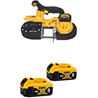 DEWALT DCS371B 20V MAX Lithium-Ion Band Saw, Bare-Tool with 20V MAX XR 5.0Ah Lithium Ion Battery, 2-Pack