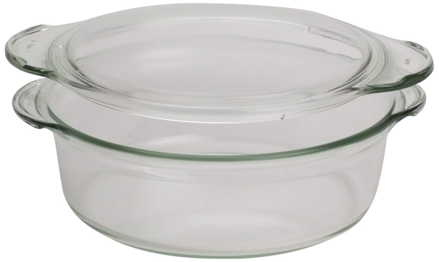 Clear Round Glass Casserole by Simax | Deep Dish, With Lid, Heat, Cold and Shock Proof, Made in Europe, 1.5 Quart