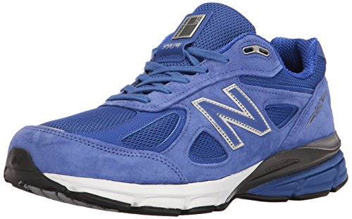 New Balance Men's M990V4 Running Shoe, UV Blue/Silver, 10.5 D US