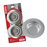 "Tools & Hardware : NORTHSTAR DECOR (2-Pack) Heavy Duty Stainless Steel Kitchen Sink Strainer. Large 4.5"" Diameter. Strong Wide Rim. Durable Rust Free Premium Quality Stainless Steel Waste Filter. Fits Most Kitchen Sinks"