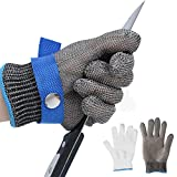 Size L Safety Cut Proof Stab Resistant Imported 316 Stainless Steel Metal Mesh Butcher Glove High Performance Level 5 Protection