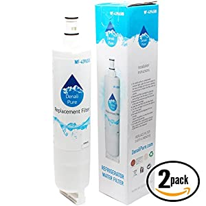 2-Pack Replacement KitchenAid KSBP25FKSS02 Refrigerator Water Filter - Compatible KitchenAid 4396508, 4396509, 4396510 Fridge Water Filter Cartridge