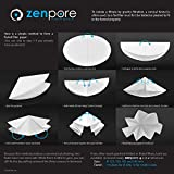 7 cm Lab Filter Paper, Standard Qualitative Grade 4 - ZENPORE Fast Flow 70 mm