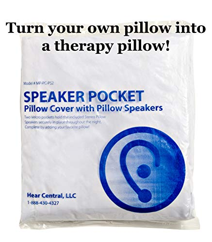 Speaker Pillow Cover: Hear Central: Tinnitus Management, Sound Therapy, Music Pillow, Sleep Therapy: Helping the World Sleep Better