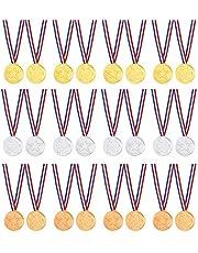 Winnaar medailles kinderen plastic goud zilver en brons winnaar prijzen medailles 60 stuks