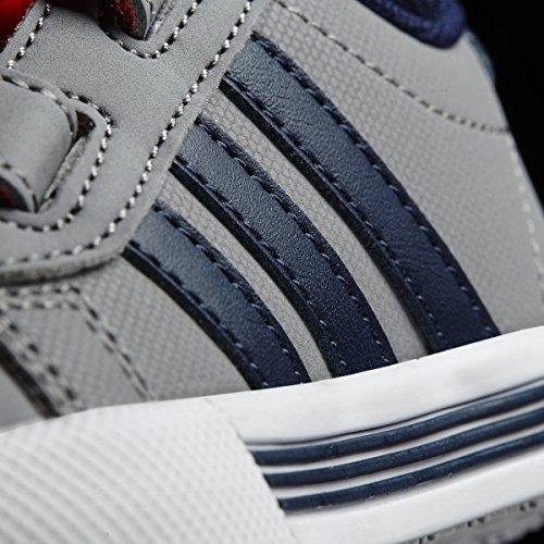 adidas Daily Team Inf, Zapatos de Gimnasia Unisex-Bambini Grigio ( Gris/Maruni/Narsol)