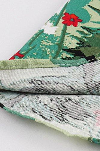 Les Green1 Dcollet Midi lgant Femmes Vintage Nimpansa pour Jupes OwUdxR