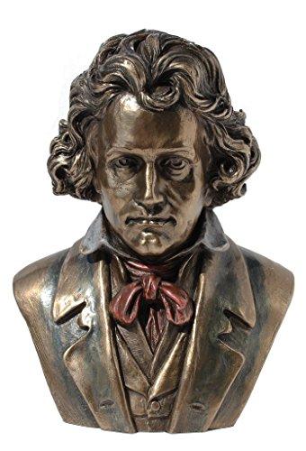 Ludwig Van Beethoven Bust Cold Cast Bronze Statue Figurine