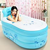Hyun times Bath 130 70 45cm single blue inflatable children adult foldable adults bath tub
