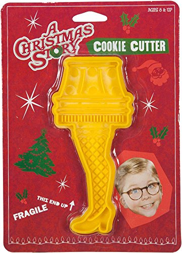 ICUP A Christmas Story Yellow Leg Lamp Plastic Cookie - Cutters Cookie Christmas Plastic