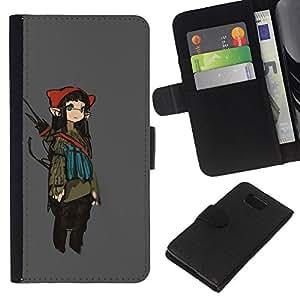 JackGot ( Orejas Muchacha de hadas del animado de larga arte japonés ) Samsung ALPHA G850 la tarjeta de Crédito Slots PU Funda de cuero Monedero caso cubierta de piel