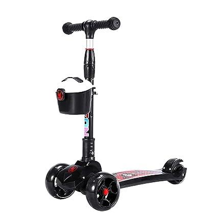 Patinete- Scooter Plegable De Altura Ajustable 4 Ruedas ...