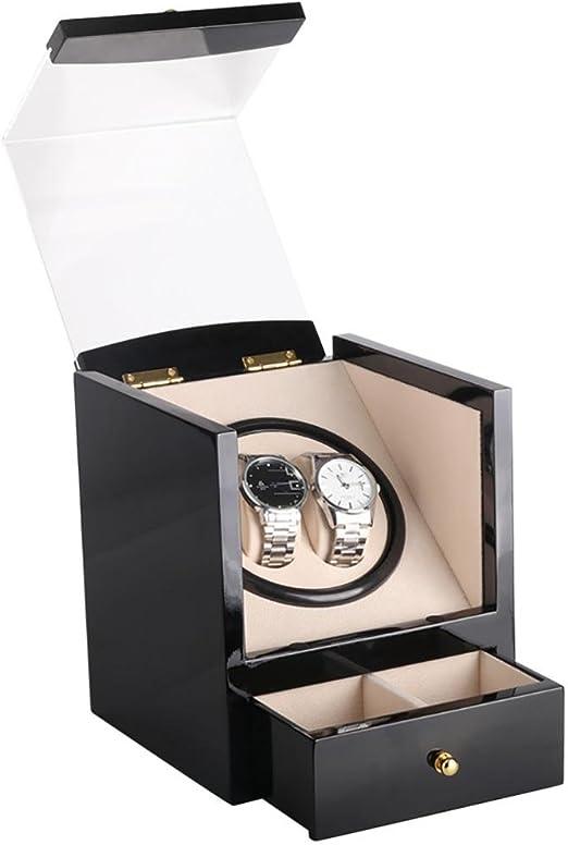 2017 lwban de caja Che Reloj beweger doble Watch Box 5 colores & Material, 1 Temporizador modos, Mabuchi Silent Motor, 100% Calidad W115 de B, # 10: Amazon.es: Hogar