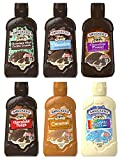 Smuckers Magic Shell Ice Cream Topping Variety Bundle, 7.25 oz Bottles (Pack of 6) Includes Caramel, Chocolate Mint Cookie Crunch, Chocolate, Chocolate Fudge, Chocolate Pretzel & Funfetti Vanilla Cake Flavors