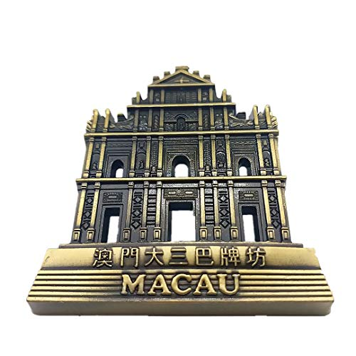 Ruins of St. Paul Macao Macau China 3D Refrigerator Fridge Magnet Travel City Souvenir Collection Kitchen Decoration White Board Sticker Metal