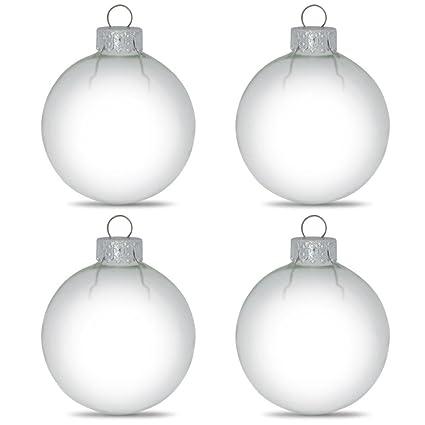 best website 7e296 5e441 Amazon.com: BestPysanky Set of 4 Clear Glass Ball Christmas ...