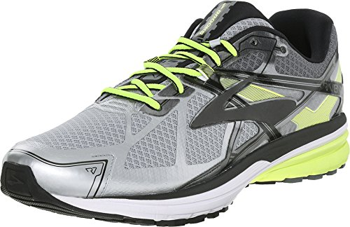 Brooks Men's Ravenna 7 Silver/Nightlife/Black Sneaker 10.5 D (M)