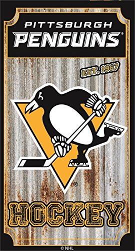 Team Sports America Pittsburgh Penguins Corrugated Metal Wall Art by Team Sports America