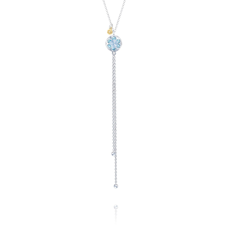 Tacori SN20102 Sonoma Skies Sterling Silver Petite Lariat Blue Topaz Necklace, 18''