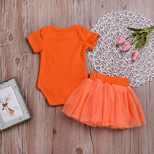 YJM Baby Skirt Set Clothes for 0-24 Months Newborn Romper Tops Tulle Tutu Skirt Halloween Costume Outfits Set
