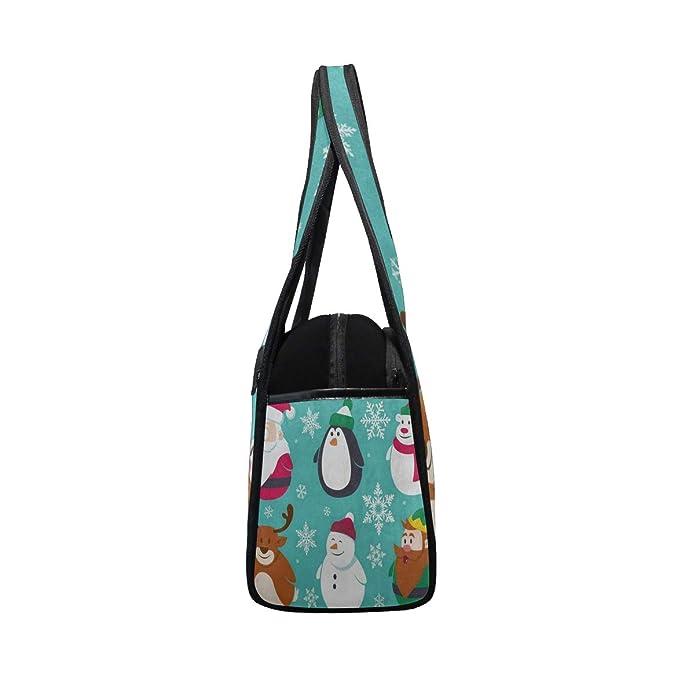 4b4879b60727 Amazon.com  Gym Bag Christmas Snowflake Penguin Winter Women Yoga Canvas  Duffel Bag Tennis Racket Tote Bags  Shoes