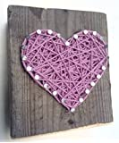 Amazon Price History for:Sweet and small wooden lavender string art heart block - A unique gift for Weddings, Anniversaries, Birthdays, Valentine's Day, Christmas, new baby girls and just because.