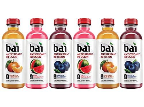 Bai (6 Pack) 18 Fl. Oz. Bottles Vegan, Gluten Free, Kosher, Non-GMO Antioxidant Infusion Beverage (Blueberry, Clementine, Watermelon)